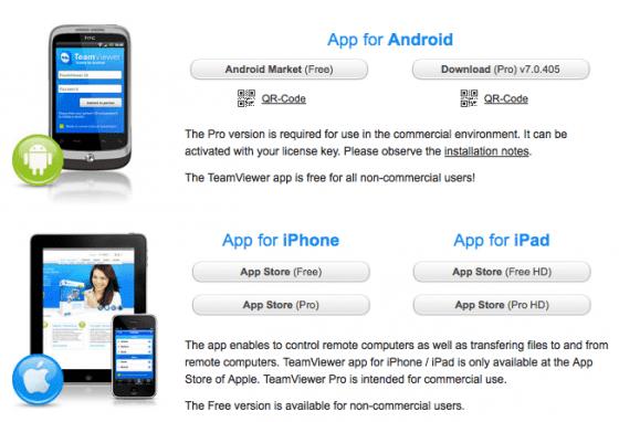 teamviewer mobile version
