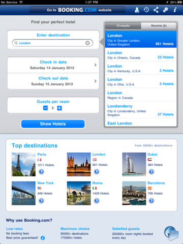booking ipad app