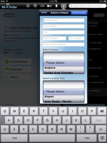 wifi finder ipad app
