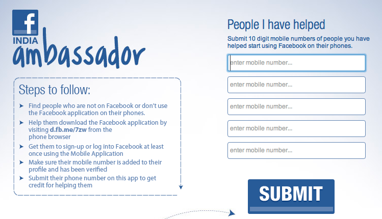 facebook ambassador signup