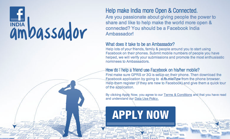 faceook india ambassador