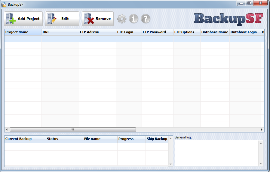 BackupSF: Automatic Website Backup Software