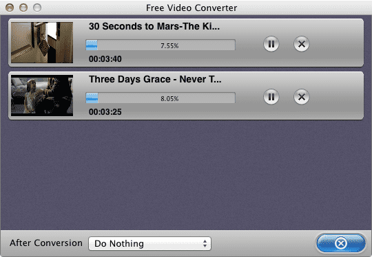 Free-Video-Converter-working
