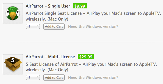 airparrot buy HOW TO: Use Airplay in OS X Snow Leopard and Lion ?