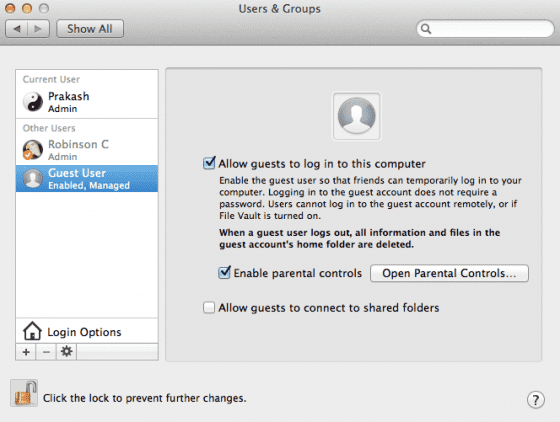 create guest user account 560x422 Guest Account on Mac OS X   Explained