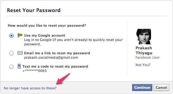 how to get back fb account