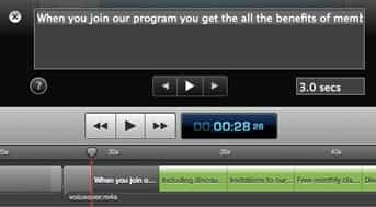 screenflow closed captions