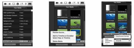 screenflow media library