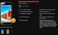 Micromax A116 Canvas HD Android Jelly Bean Mobile Unboxing [Video]