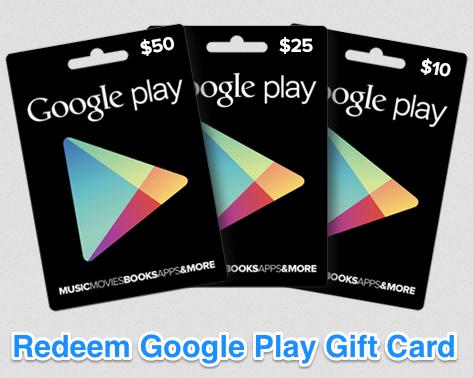 2018 Google Play Codes Gift Card