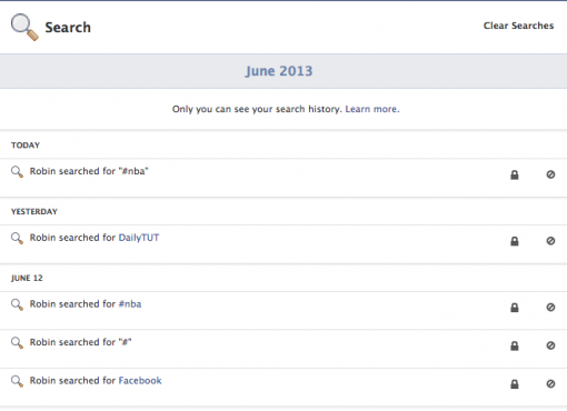 HOW TO: Delete Facebook Search History ?