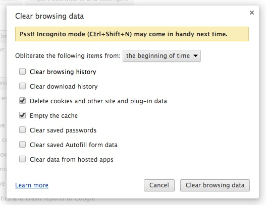 google chrome clear browsing data Chrome Pepper Flash Player Plugin Problem, How to Disable it ?