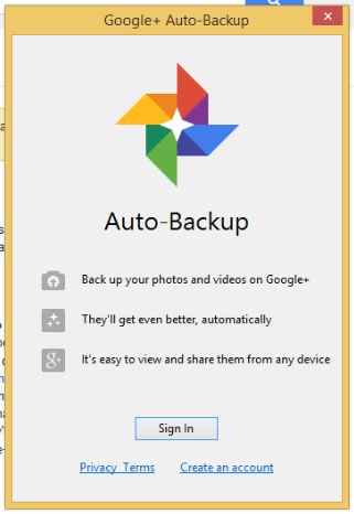 google plus autobackup signin HOW TO: Auto Backup Photos and Media to Google+ in Windows or Mac OS ?