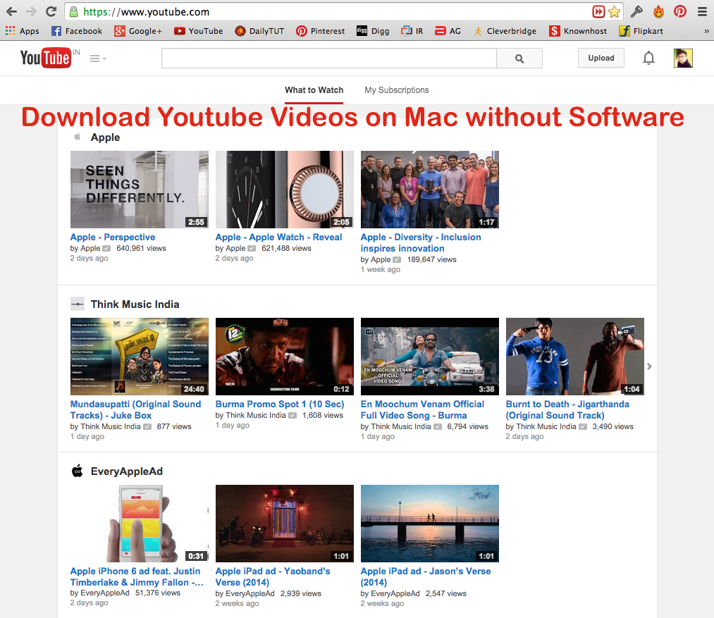 How to download youtube videos on mac without software