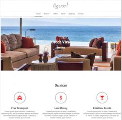 """""""Resort"""" Free Responsive Joomla 3.x Template"""