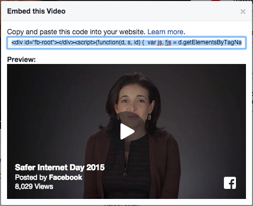 How to Embed Facebook Videos on Blogs and Websites?