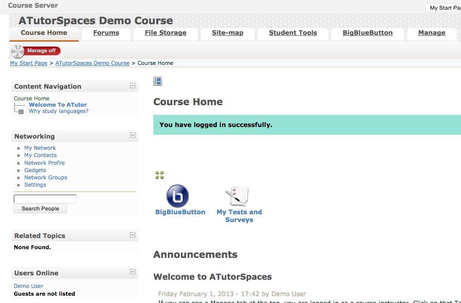 atutor assessment exam tool