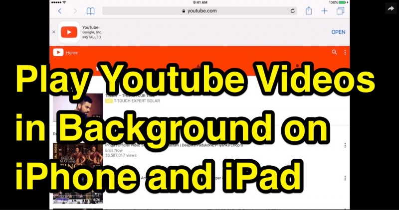 how to play youtube in background iphone how to play in background on iphone and 2477