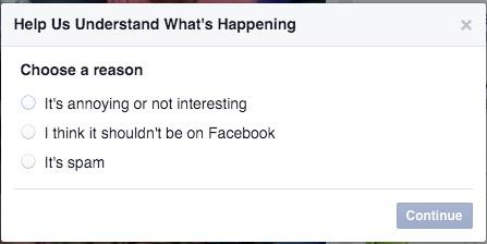 report facebook videos
