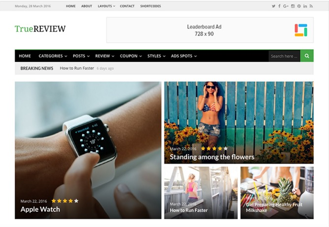 truereview themejunkie wordpress theme