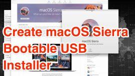 create macos sierra bootable usb installer