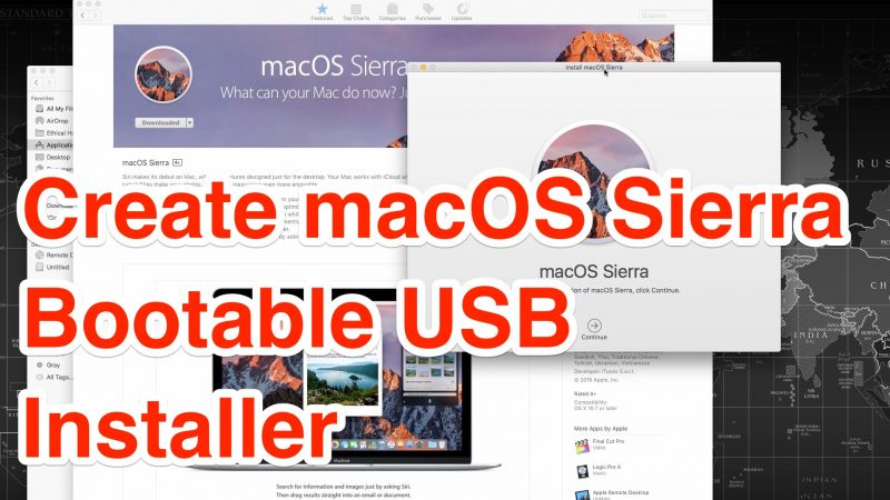 create macos sierra bootable usb installer
