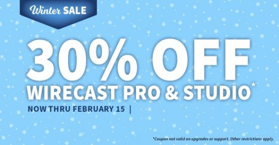 wirecast coupon code winter offers