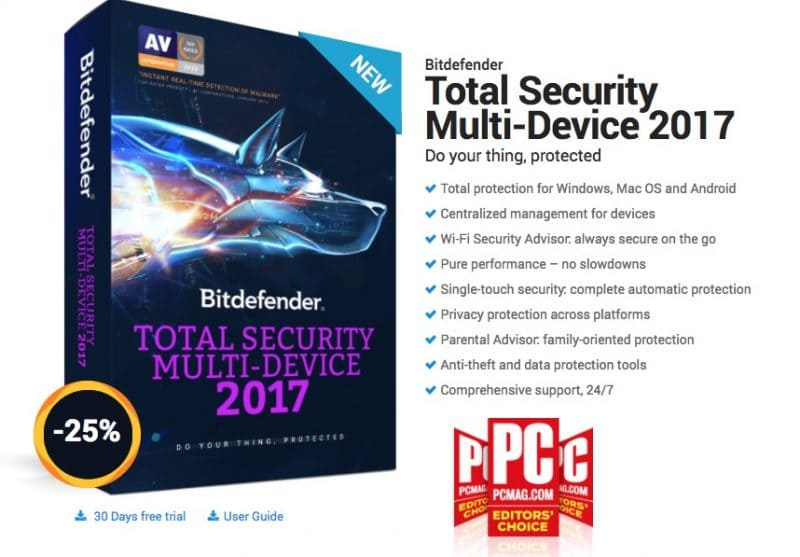 bitdefender total security 2017 discount coupon