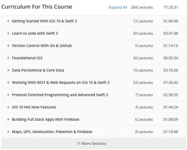 ios app developer course training