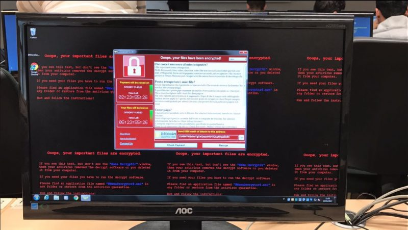 wannacry ransomware windows pc
