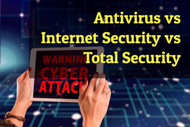 antivirus vs internet security vs total security