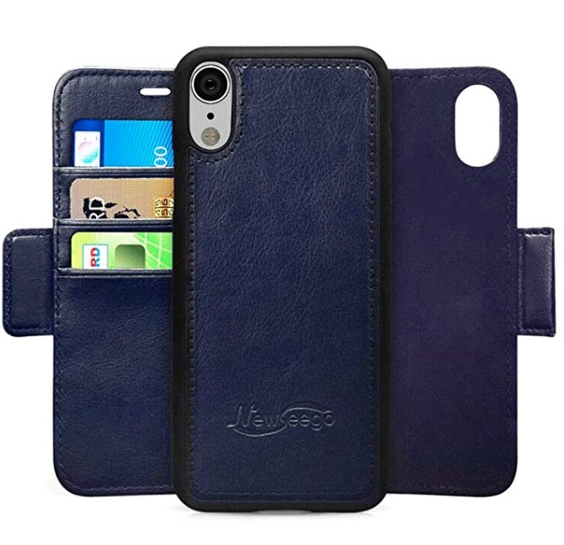 iphone xr leather wallet case photo