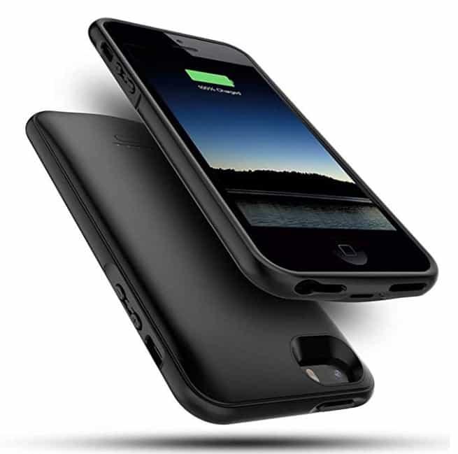 iphone se 5s battery case snsou 4000 mah