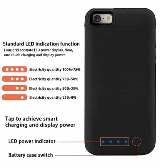 iphone se battery cases findagift amazon