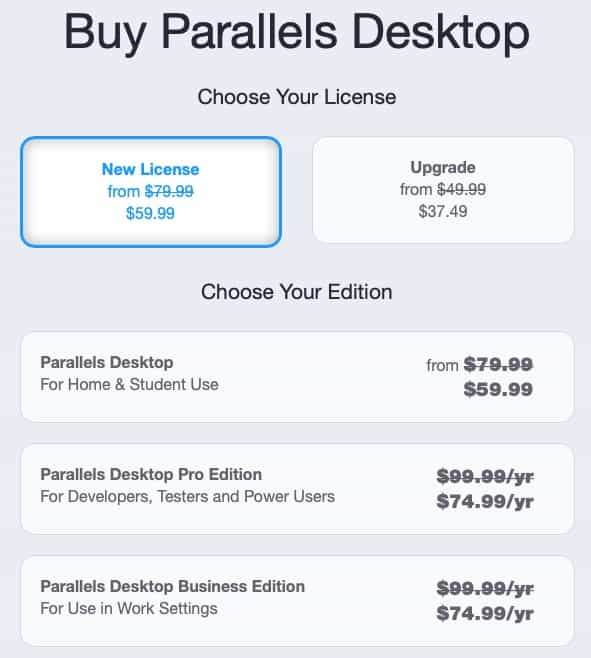 parallels discount offers