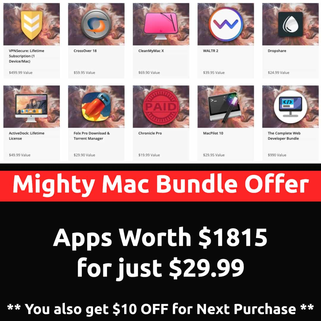 Mighty Mac Apps Bundle: Cleanmymac X, CrossOver, Folx Pro at just $29.99 – DAILYTUT