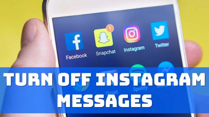 turn off instagram messages